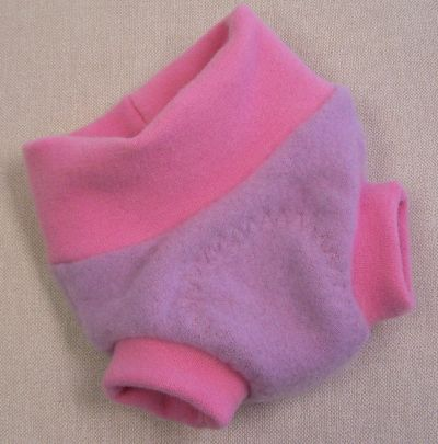 Baby Pink Cashmere Hybrid Soaker, sz XS-