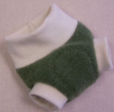 Lime/Natural Cashmere Hybrid Soaker, sz XS-