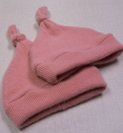 Dusty Rose Cashmere Knotty Hat, sz 1