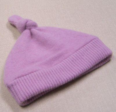 Basic Rose Cashmere Knotty Hat, sz 1