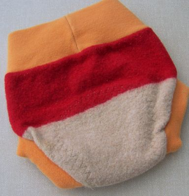 Sand/Red/Orange Wool Cover, sz S