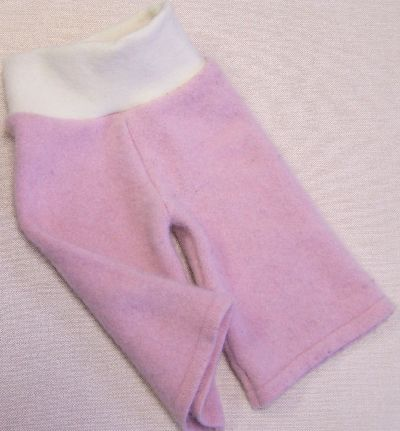 Baby Rose/Natural Cashmere Longies, sz XS/S-