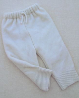 Basic Natural Cashmere Double Layer Longies, sz S/M