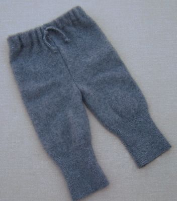 Basic Grey Cashmere Longies, sz