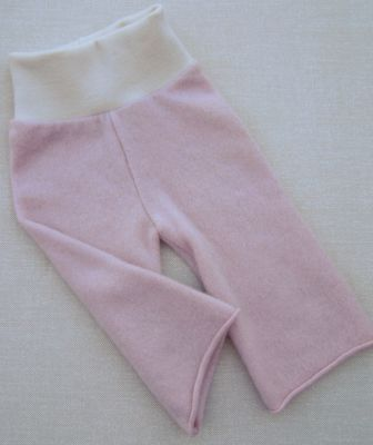 Cashmere Pale Rose/Natural Longies, sz S/M