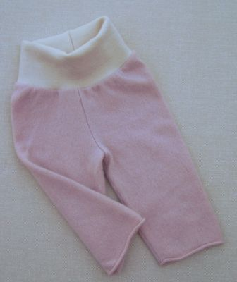 Seconds! Cashmere Pale Rose/Natural Longies, sz S