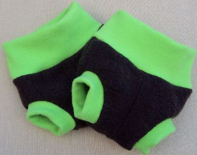 Eggplant/Electric Lime Hybrid Soaker, sz XS