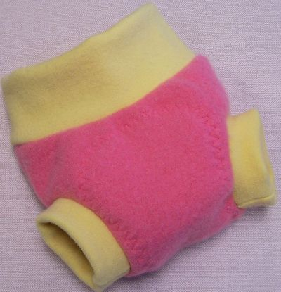 Bubblegum/Lemon Cashmere Hybrid Soaker, sz S-