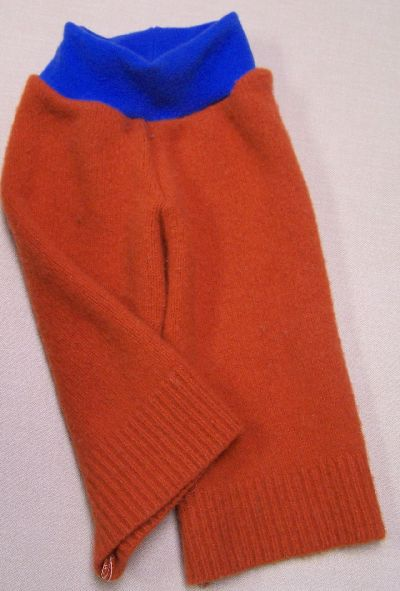 Pumpkin/Brilliant Blue Longies, sz M/L-