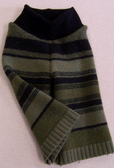 Olive/Charcoal Stripe Longies, sz S/M-