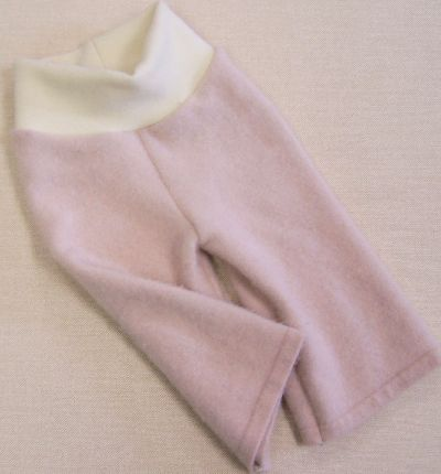 Baby Pink/Natural Cashmere Longies, sz S-