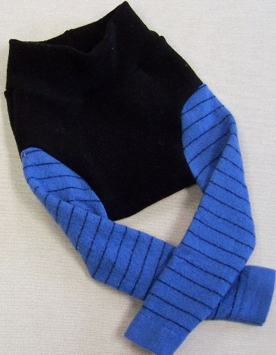 Blueberry Stripe Leggings, sz M-