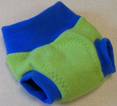 Lime/Electric Blue Hybrid Soaker, sz S-